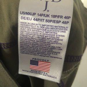 NYDJ Jeans - EUC NYDJ Army Green size 14P